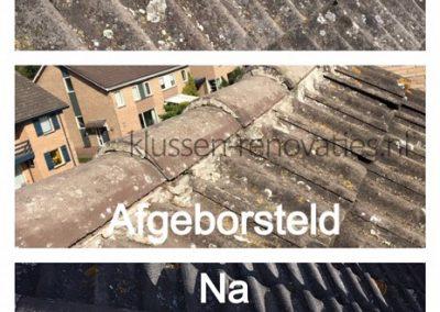 betonnen dakpannen, zwevende nok, nok smeren, onderhoud en renovatie. waterdicht,